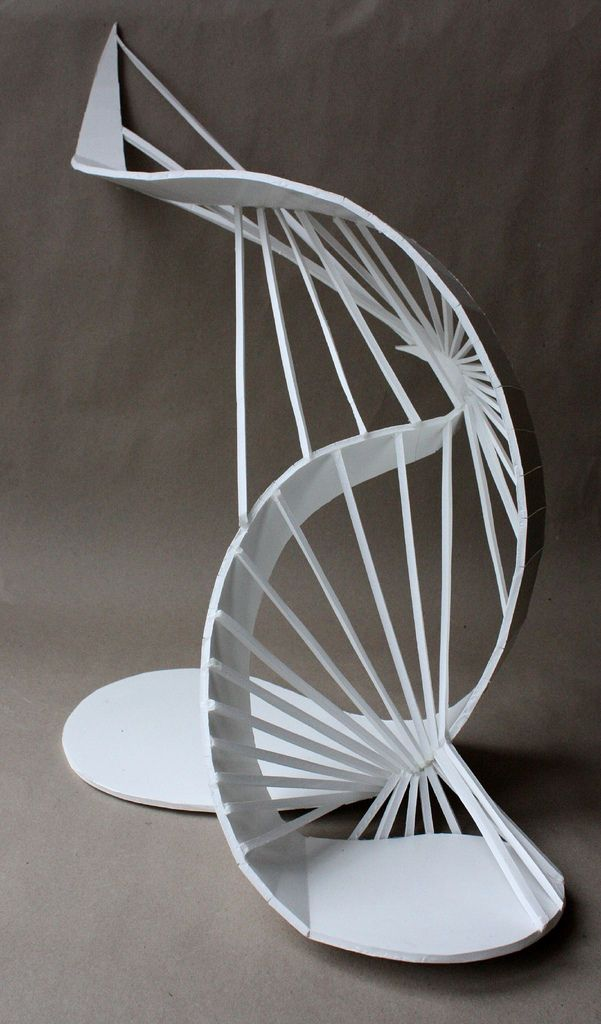 Clara Lieu, Wellesley College, Basic Two-Dimensional Design course, 3D Staircase Sculpture Assignment, dimensions variable, foam board, 2010