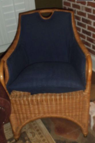 Ralph Lauren Woven Natural Wicker Chair · Wicker ChairsVintage ...