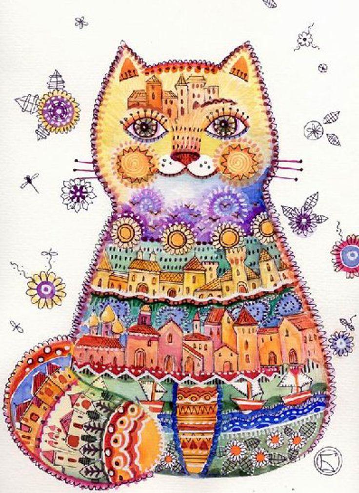 """Cat Folk"" par Oxana Zaika"