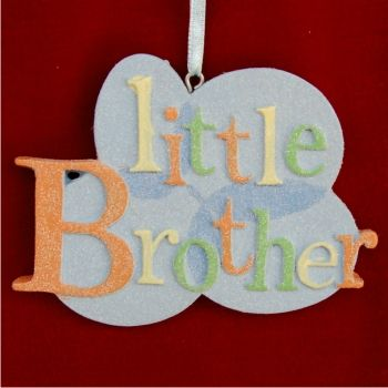 From Big Sibling to Little Brother Baby Ornament Personalized Baby