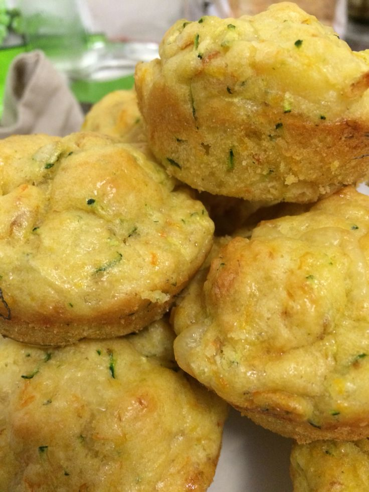 Cheese and vegetables muffins...a perfect finger food for a year old. My son looooves it..