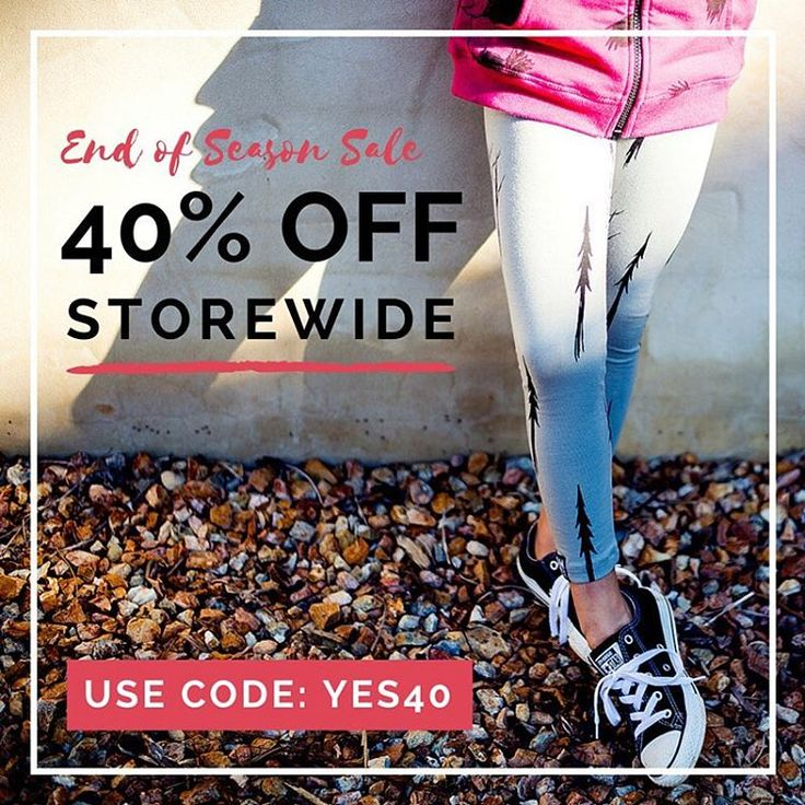 TAKE 40% OFF EVERYTHING Starting right now, includes sale items. Use code YES40 at the checkout. #eofysale #take40offeverything #littlestyles
