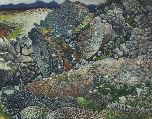 Jóhannes Sveinsson Kjarval. Lava at Bessastadir. 1947-54