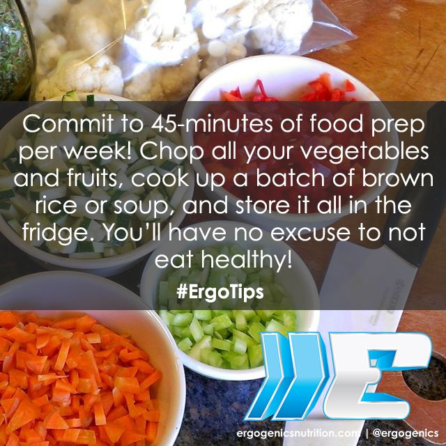 An awesome #ErgoTips that will have you eating healthy all week long! #plantbased #nutrition