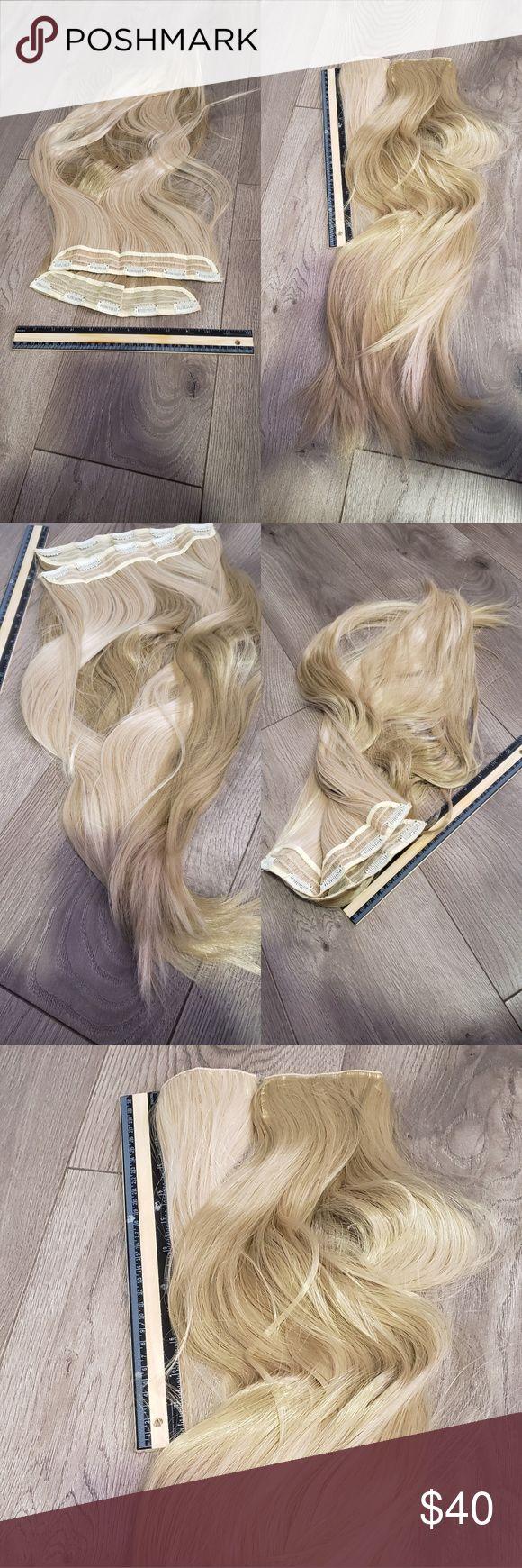 22 inch Heat Resistant Triple Weft Clip in hair …