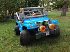 Customizing a Power Wheels Jeep with spray paint!