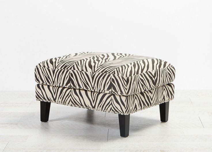 Celeste II Footstool Zebra from Villa Maison #americanstyle #classic #interiors #design