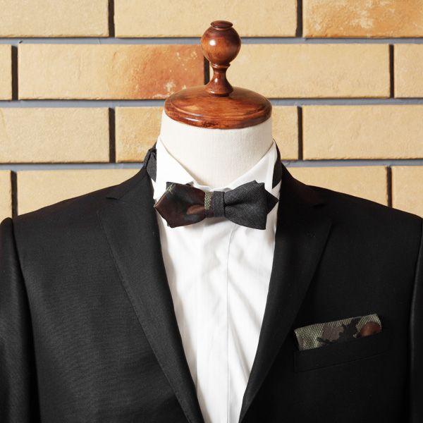 【IZREEL】 ポケットチーフ/カモフラージュ|LOUNGE WEDDINGのガーランド・リングピロー