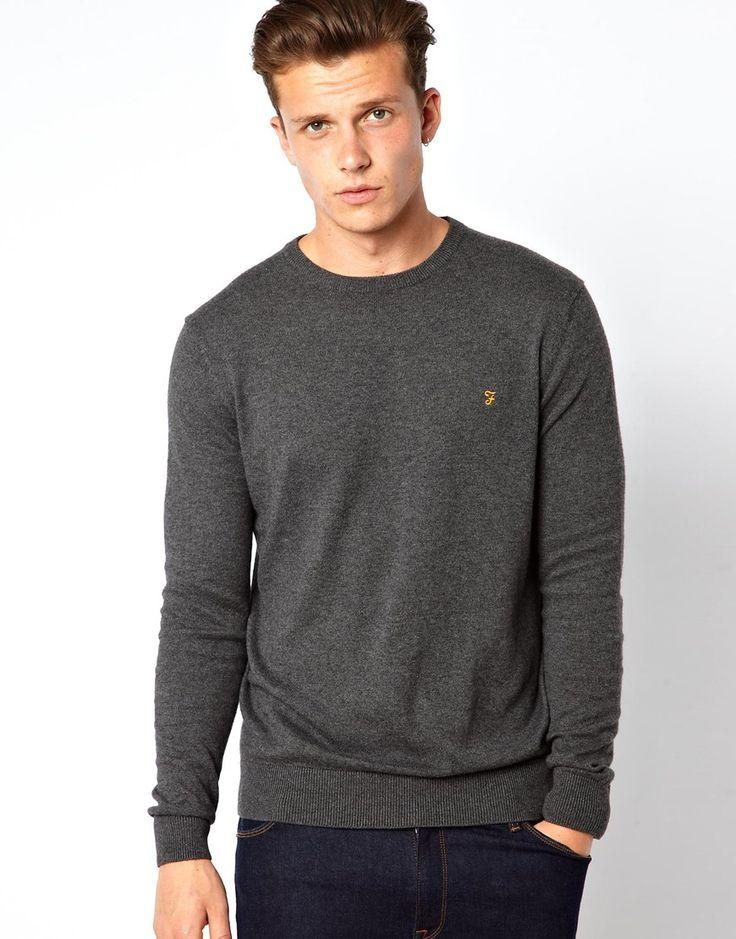 Look stunning with this  Farah Jumper in Crew Neck - Grey - http://www.fashionshop.net.au/shop/asos/farah-jumper-in-crew-neck-grey/ #ClothingAccessories, #Crew, #Farah, #Grey, #In, #Jumper, #Knitwear, #Male, #Mens, #MensCardigans, #Neck #fashion #fashionshop