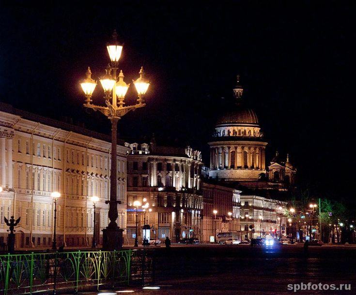 Вид на Исаакиевский собор с Дворцовой площади