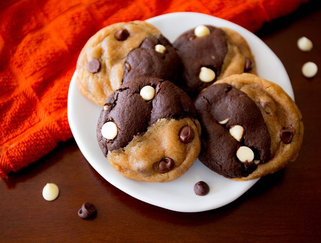Chocolate lovers will become addicted to Sally's Baking Addiction double chocolate chip swirl cookies.