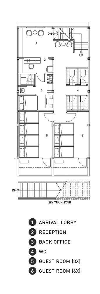 Adventure Hostel,First Floor Plan
