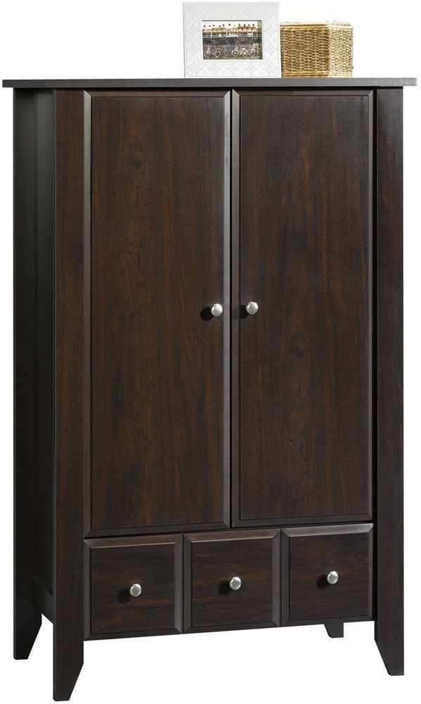 Kids Clothing Storage Wardrobe Closet For Clothes With Drawers Doors Mocha #ChildCraft