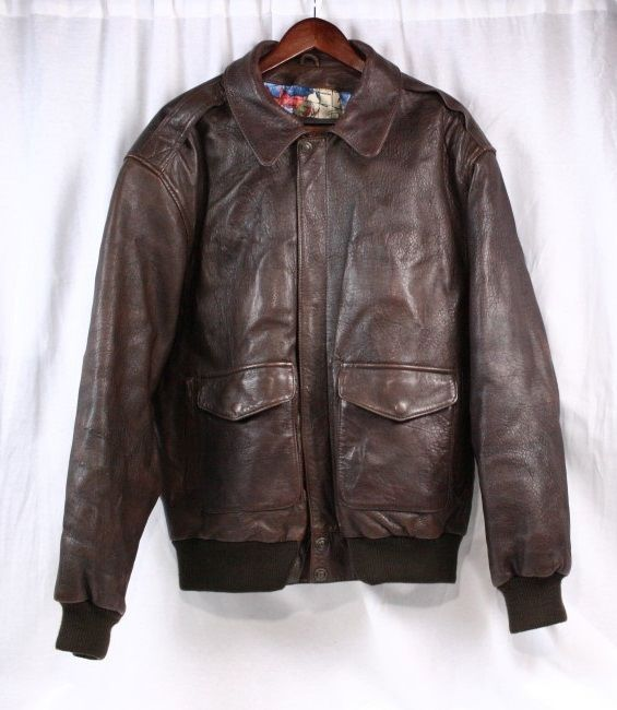 Chocolate brown late '70s early '80s short leather jacket - Sz M ~ Unisex Ga2goZ