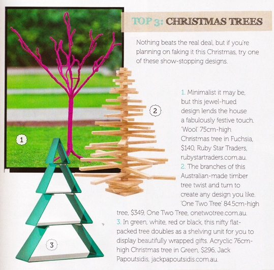 Featured in the #Christmas #entertaining special in Home Beautiful #homebeautiful #onetwotree