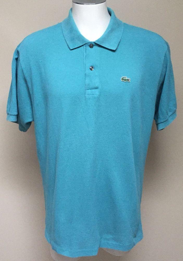 Lacoste Men S Teal Blue Green Classic Logo Polo Shirt Size 7 Xxl