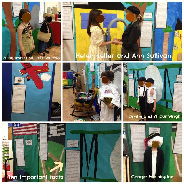Writing biographies and hosting a living wax museum.  An amazing learning project.