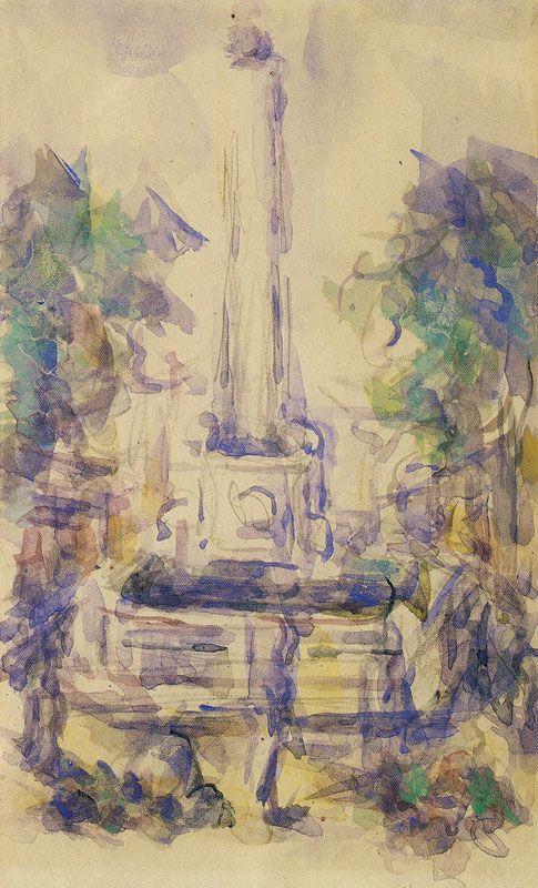 Paul Cézanne - Fountain on the Place de la Mairie, Aix-en-Provence