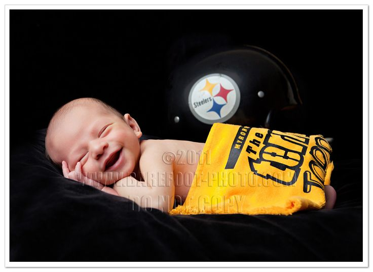 The newest steelers fan in baltimore ravens country newborn photographer barefootconnie