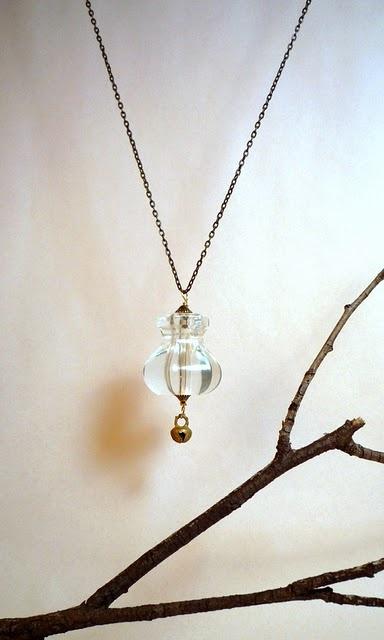 made from a glass dresser knob<3