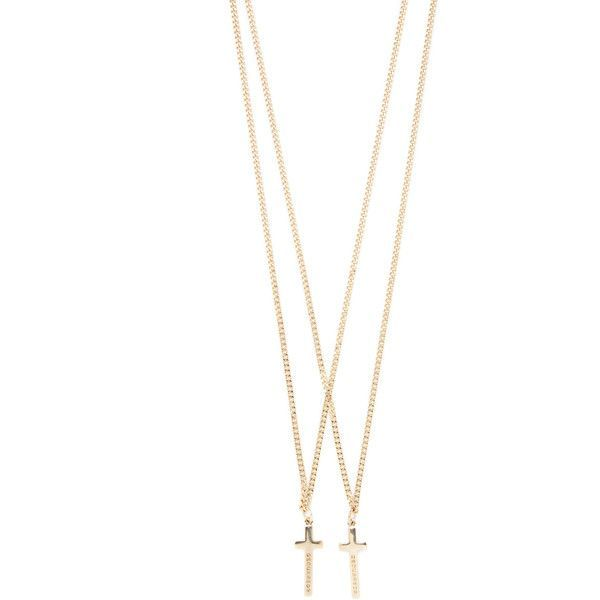 DSquared2 Men's Nero Necklace - Gold ($79) ❤ liked on Polyvore featuring men's fashion, men's jewelry, men's necklaces, gold, mens long necklaces, mens gold chain necklace, mens necklaces, mens cross pendant necklace and mens chain necklace