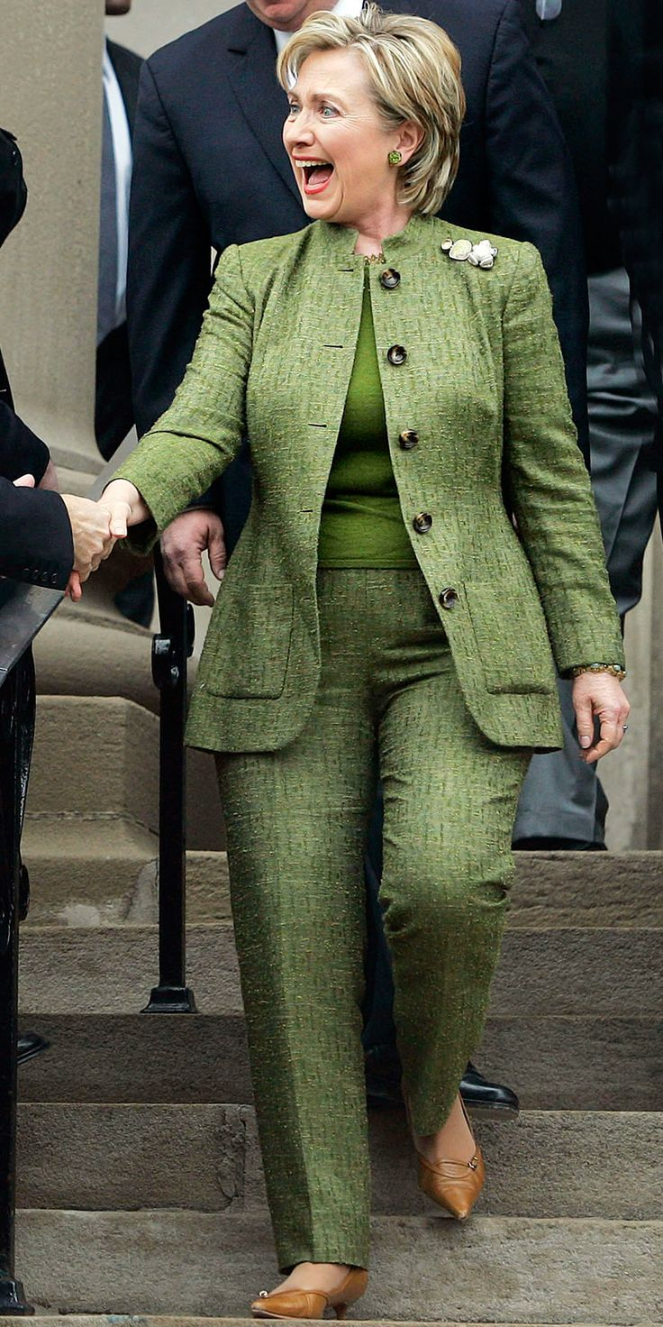 Hillary Clinton's Career in Pantsuits - April 2, 2007 from InStyle.com