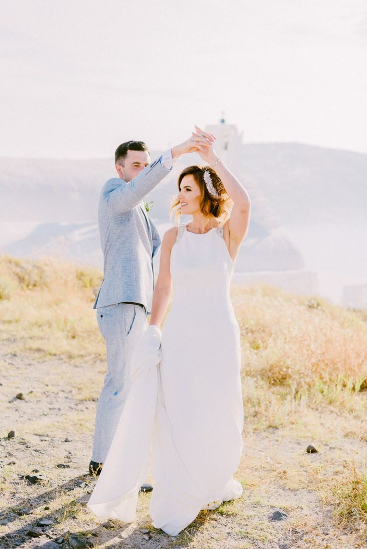 Thinking Of Getting Married Abroad? This Wedding Is A Must See!  wedding in Santorini, Santorini wedding photographer, Santorini photographer, Santorini wedding, Pronovias wedding dress, wedding ideas, wedding photographer Greece, destination wedding photographer,