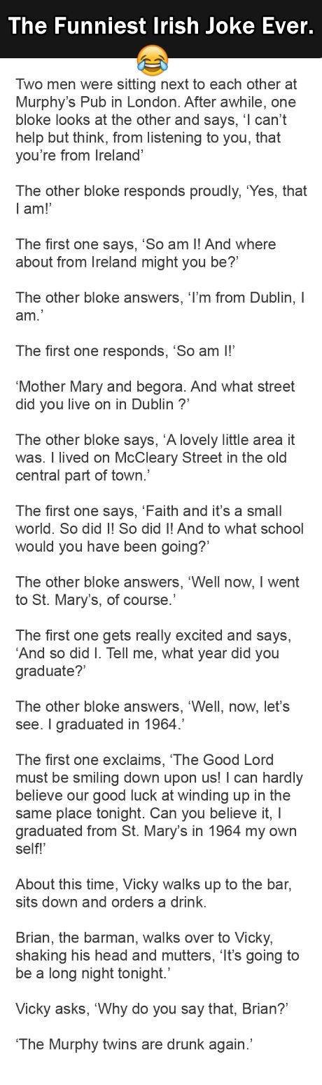 The Best Irish Joke Ever. This is Gold. | Surveee
