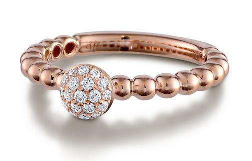 hulchi belluni cluster ring in rose gold