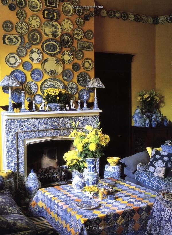 Kaffe Fassett 's Glorious Patchwork: Kaffe Fassett, Color Schemes, A Blue Decor, Dream Room, House, Yellow Walls