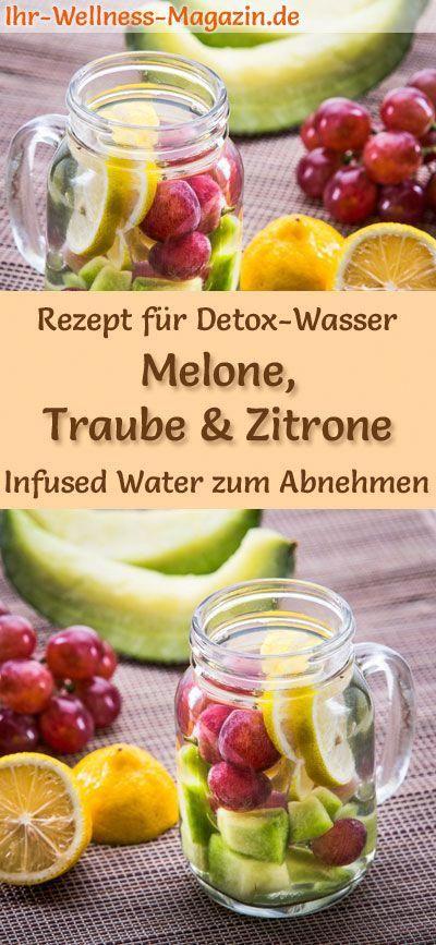 Detox Wasser Rezept Fur Melonen Trauben Zitronen Wasser Infused