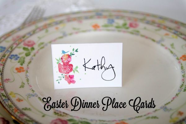 Easter Dinner Place Cards