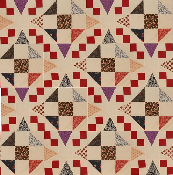 This is a combo set 2 different blocks when put together form a completely different pattern An optical illusion Sold in sets of 12 blocks...each block is 12.5 inches additional blocks can be purchased With a combo you will get 6 blocks of each Fabrics are a scrappy patchwork