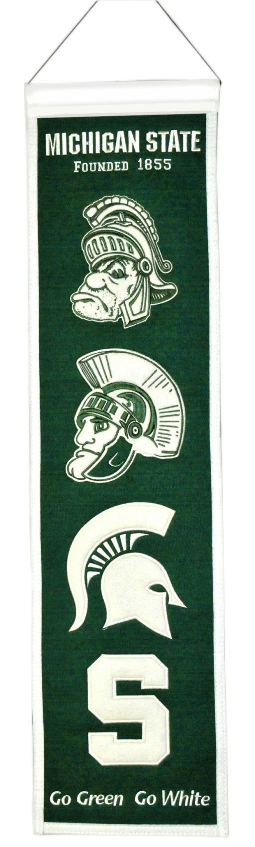 "Michigan State Spartans 8""x32"" Wool Heritage Banner"