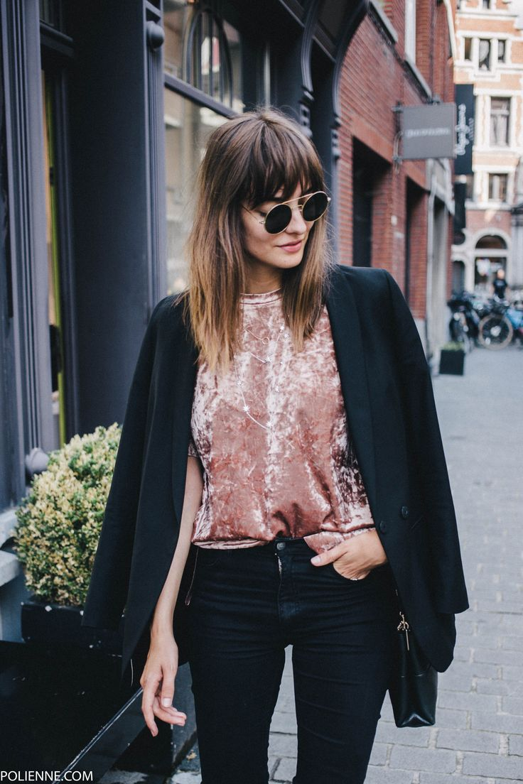 POLIENNE | wearing a BERSHKA velvet tee, WE blazer, CHEAP MONDAY skinny jeans, MANGO booties & COACH bag