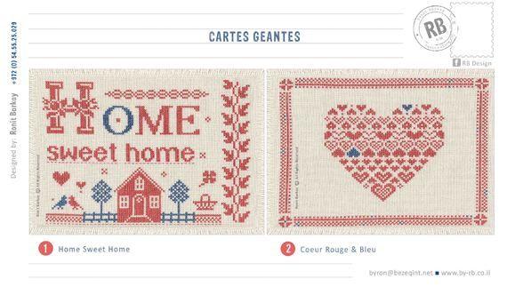 Cartes Géantes. Design & Broderie par Ronit Barkay