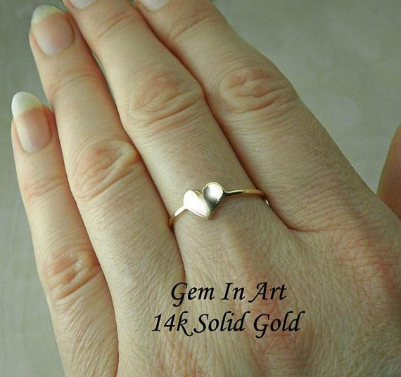 Solid Gold stacking Ring14K Solid Gold Stackable RingGold
