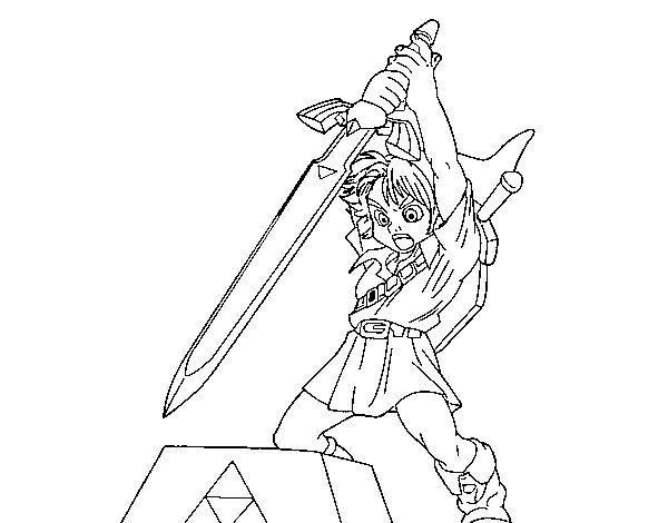 zelda coloring page to color print or download color online with this game to