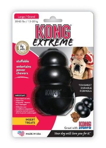 KONG Extreme Dog Toy, Large, Black - Chew Toys #Dogs #Dog #Pets #Pet #Gift #Gifts #Christmas #Holiday #Holidays #Present #Presents #Accessories #Dog #Dogs #Chew #Toys #Toy