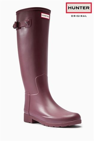 Buy Hunter Original Red Matte Tall Wellies from the Next UK online shop