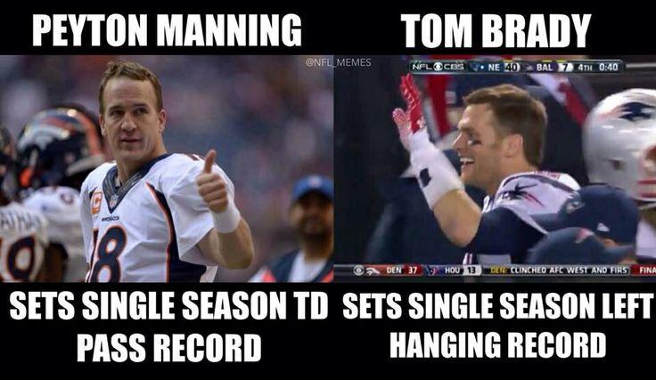 Tom Brady vs Peyton Manning #Football #Humor #Patriots #Broncos