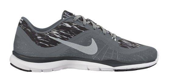 $75 - Nike Womens W NIKE FLEX TRAINER 6 PRINT  PURE PLATINUM/METALLIC SILVER-COOL GREY #shoes #nike