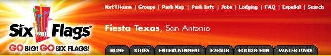 Six Flags Fiesta Texas, San Antonio.  Rollercoaster & entertainment