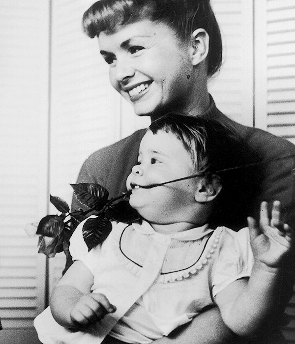 """becketts: """" """"Debbie Reynolds and Carrie Fisher, 1958. """" """""""