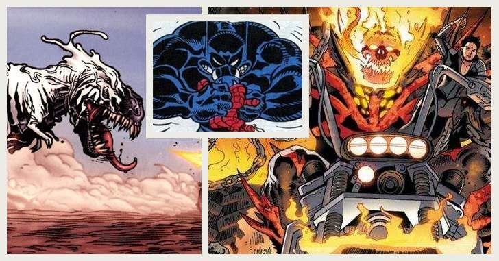 Com o Venom confirmado no UCM, é hora de explorar o personagem mais a fundo. Como o Venom pode ficar mais bizarro do que já é? Uma versão Presidente dos Estados Unidos? Um Venom Thor? Ou que tal o megazord mais creepy e badass dos quadrinhos, com uma fusão entre o Venom, o Hulk Vermelho …