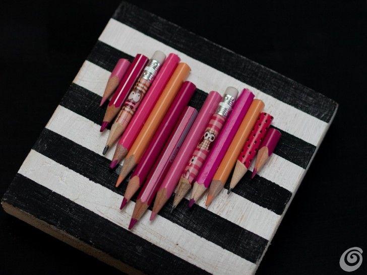 Idee fai da te :: Realizzare una decorazione per San Valentino con i pastelli usati valentine gift with used pencils