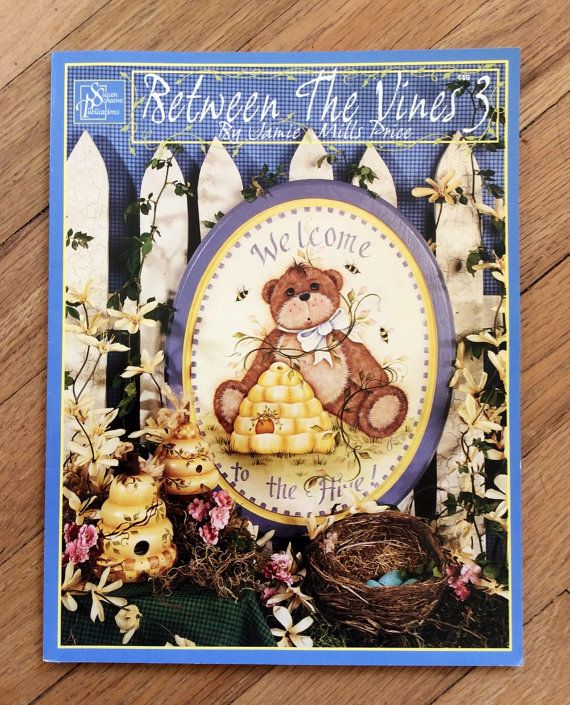 Between the vines 3 tole painting craft book retro for Folk art craft paint