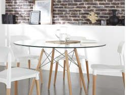 17 best ideas about table ronde en verre on pinterest poutrelle beton bell - Table ronde cdiscount ...
