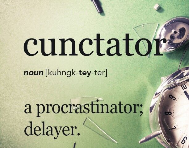 Canctator - hate them. I'd rather do things much before the deadline than after it