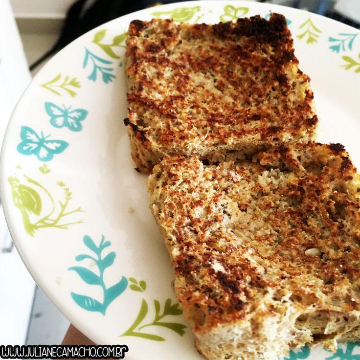 Pão de biomassa de banana verde no microondas, super nutritivo | Juliane Camacho blog